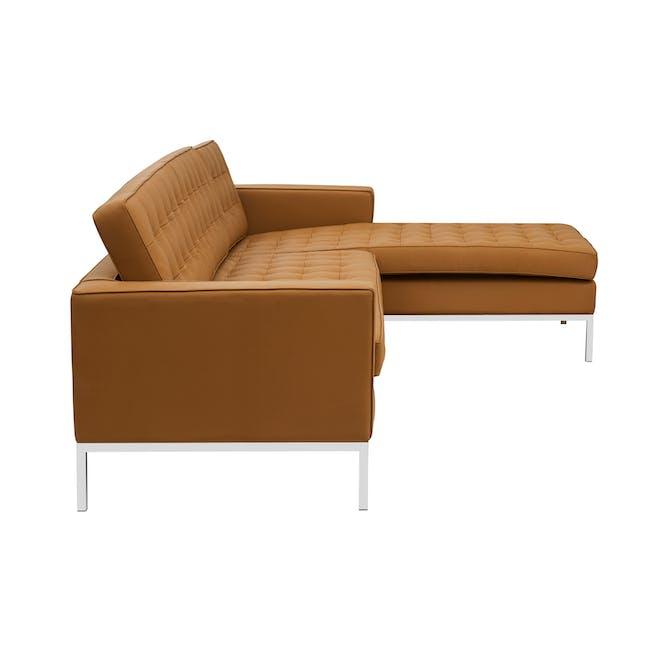 Florence Knoll L-Shaped Sofa Replica - Tan (Genuine Cowhide) - 2