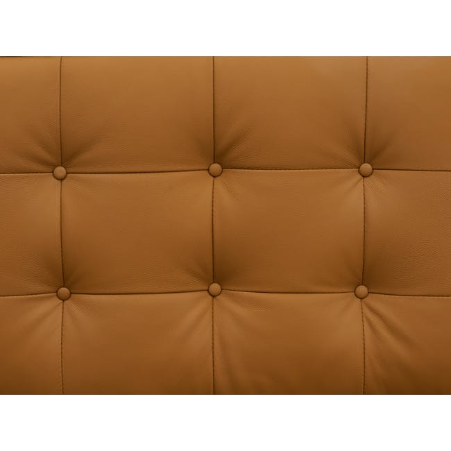 Florence Knoll L-Shaped Sofa Replica - Tan (Genuine Cowhide) - 6