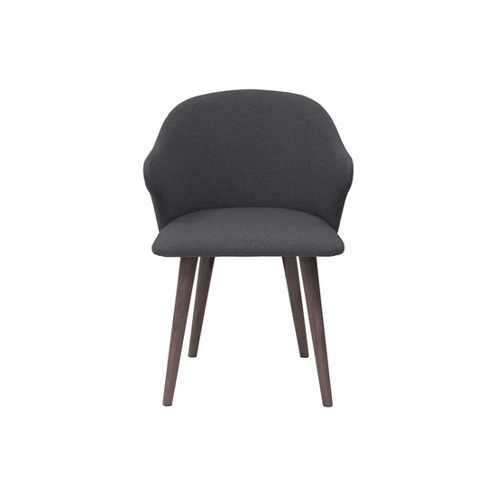 HipVan Bundles - 4 Runa Dining Arm Chairs in Walnut, Battleship Grey