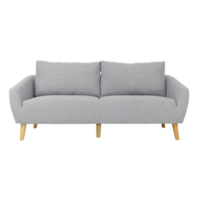 Hana 3 Seater Sofa - Light Grey - Image 1