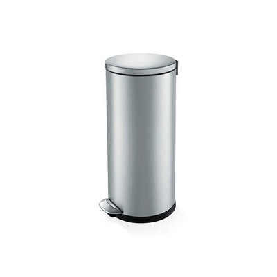 Luna Soft Close Step Bin 30L - Silver - Image 1