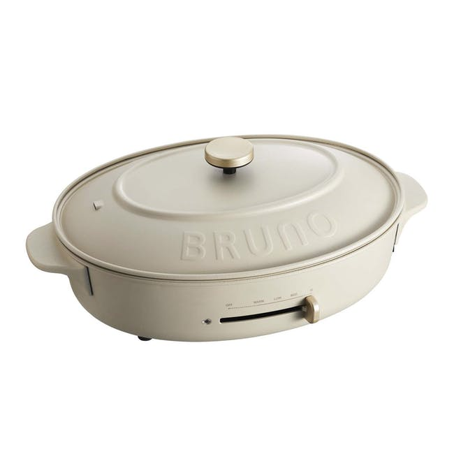 BRUNO Oval Hotplate - Greige - 0