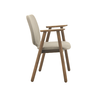 Missie Dining Arm Chair - Cocoa, Light Grey