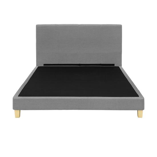 Chen Dynasty - ESSENTIALS King Headboard Divan Bed - Grey (Fabric)