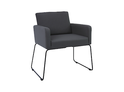 Delma Dining Chair - Matt Black, Paloma