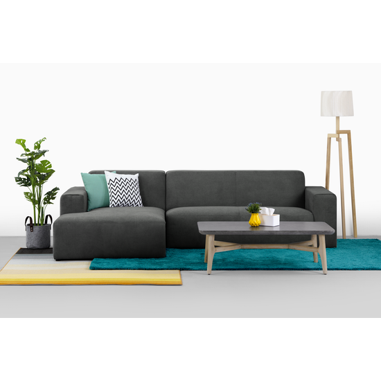 Adam L Shape Sofa Granite Premium Sofas By Hipvan Hipvan