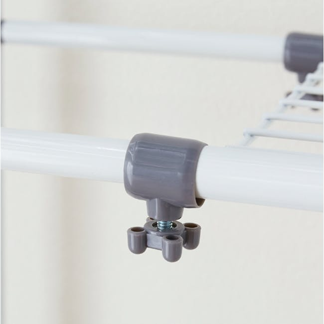 HEIAN Adjustable Washing Machine Rack with Hanging - 1