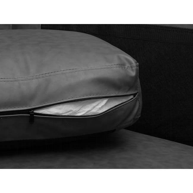 Wellington 3 Seater Sofa - Lead Grey (Faux Leather) - 6