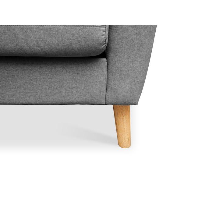 Evan 3 Seater Sofa - Charcoal Grey - 7