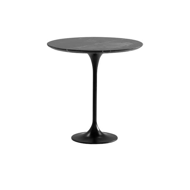 Mistra Marble Side Table - Black - 0