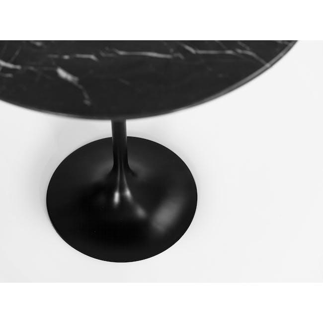 Mistra Marble Side Table - Black - 2