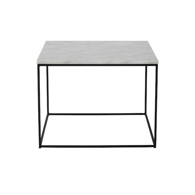 Lucio Marble Coffee Table - Matt Black, White - 1
