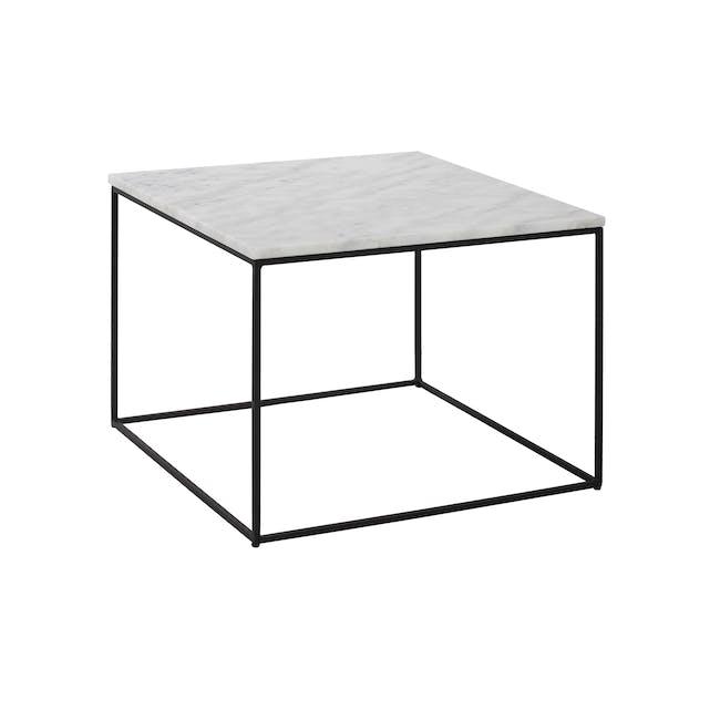 Lucio Marble Coffee Table - Matt Black, White - 0
