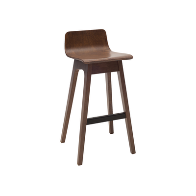 Ava Low Back Bar Chair Walnut Malmo Hipvan