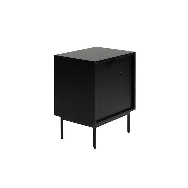 Lewis Bedside Table - Black, Oak - 3