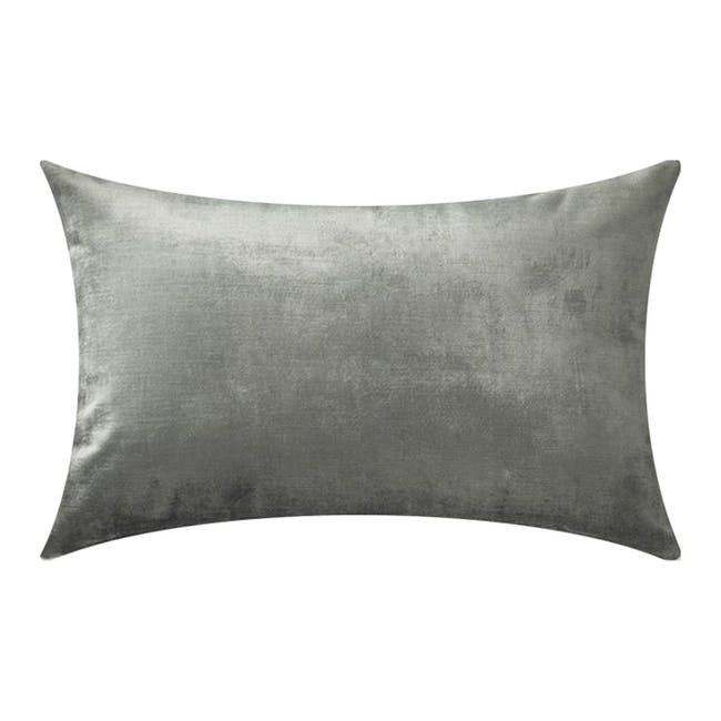 LOVE Oblong Cushion - Silver - 0