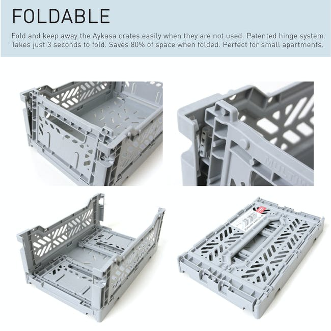 Aykasa Foldable Midibox - Powder Blue - 6