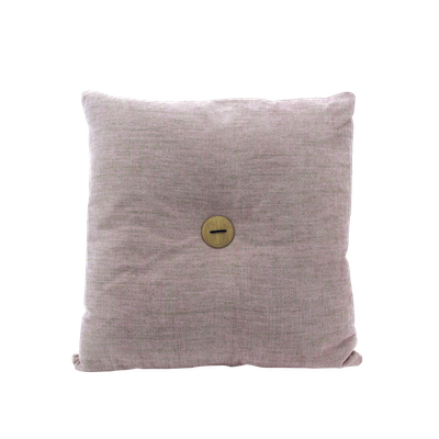 Distintivo Square Cushion - Misty Rose, Down Feathers (Domett Fabric) - Image 1