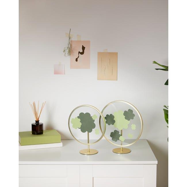 Infinity Round Photo Display - Small - Matte Brass - 4