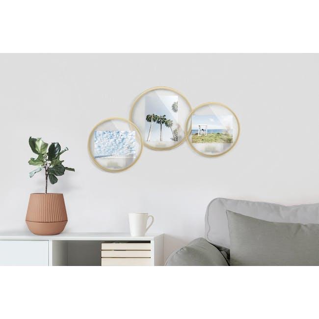 Infinity Round Photo Display - Small - Matte Brass - 6