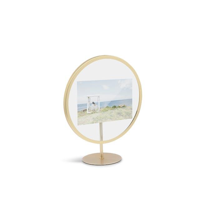 Infinity Round Photo Display - Small - Matte Brass - 3