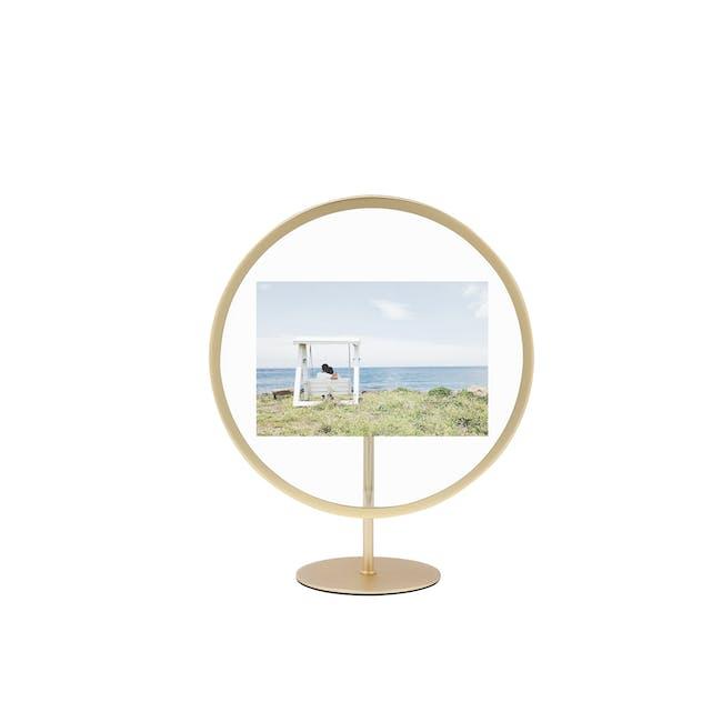Infinity Round Photo Display - Small - Matte Brass - 0