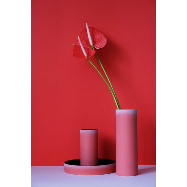 Tubular Tall Vase 23.5 cm - Imperial Red - 1