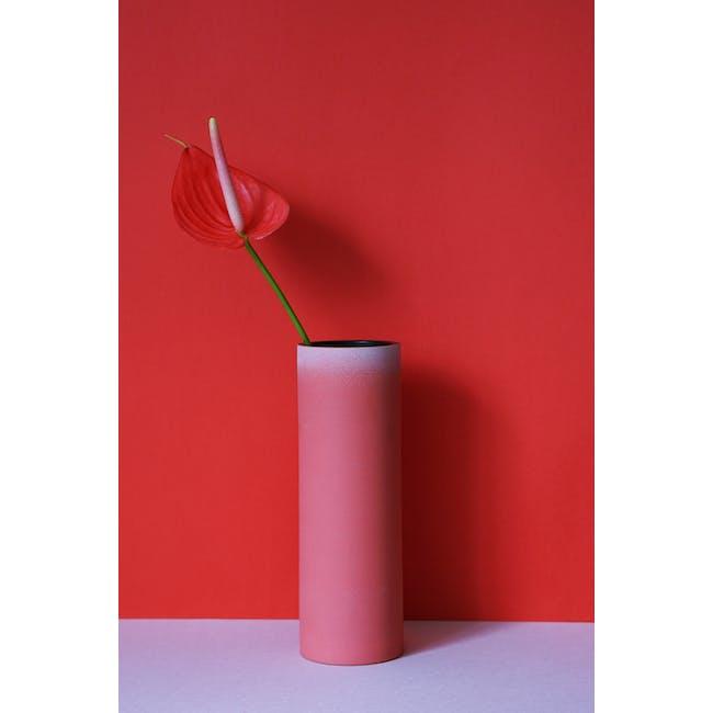 Tubular Tall Vase 23.5 cm - Imperial Red - 3
