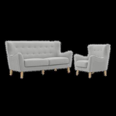 Jacob 3 Seater Sofa with Jacob Armchair - Image 1