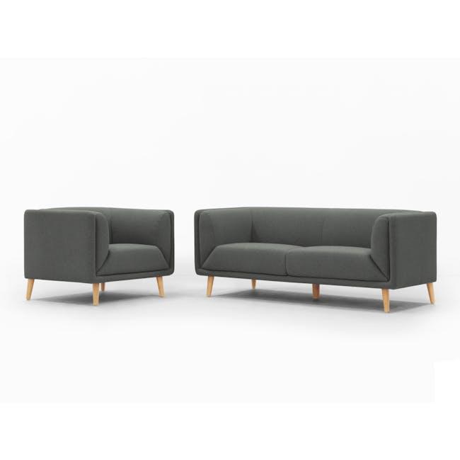 Audrey 2 Seater Sofa - Granite Grey - 9