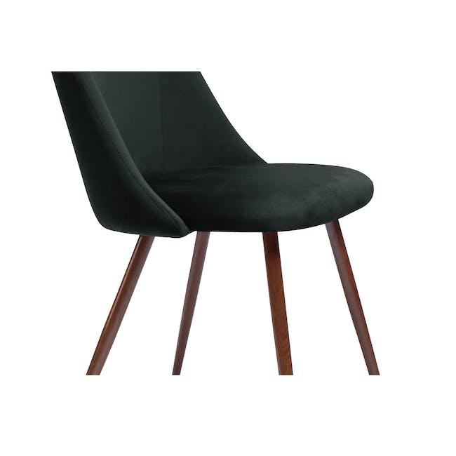 Lana Dining Chair - Walnut, Pine Green (Velvet) - 1