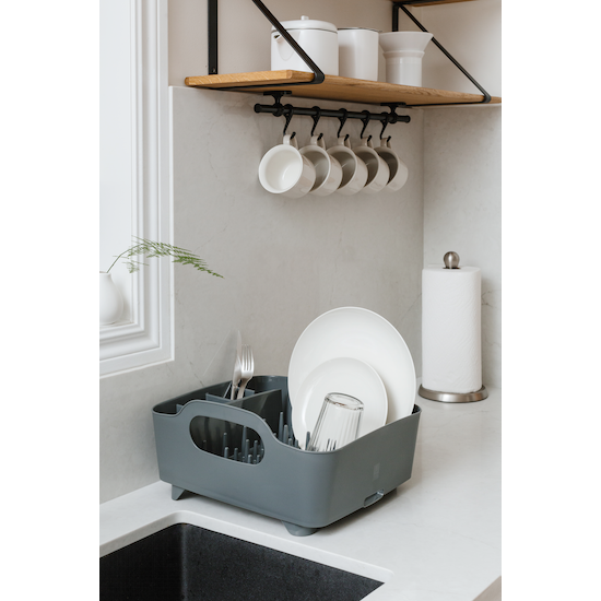 Umbra - Tub Dish Rack - Charcoal