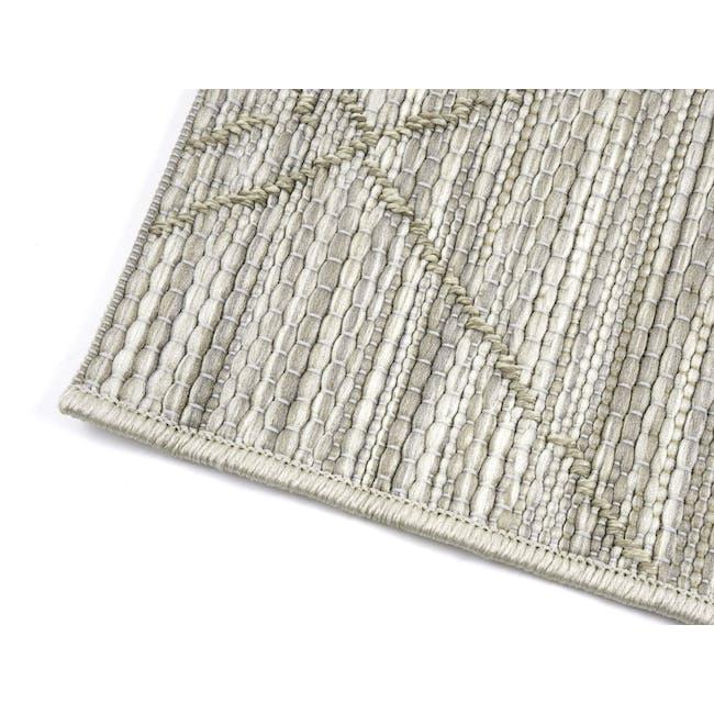Mira Flatwoven Rug 2.3m x 1.6m - Ecru Stitch - 3