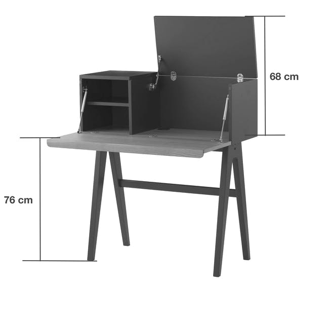 Valen Study Table - White - 6