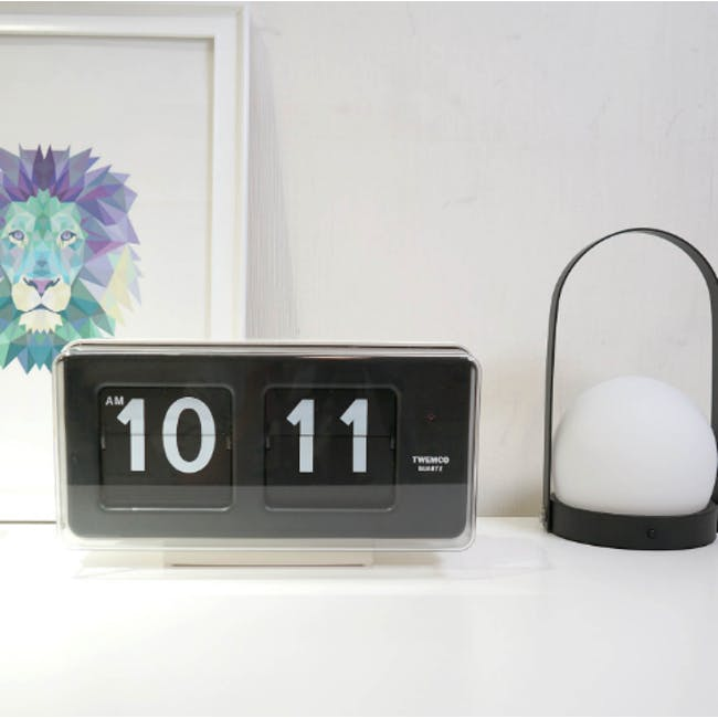 TWEMCO Big Wall/Table Clock - White - 2