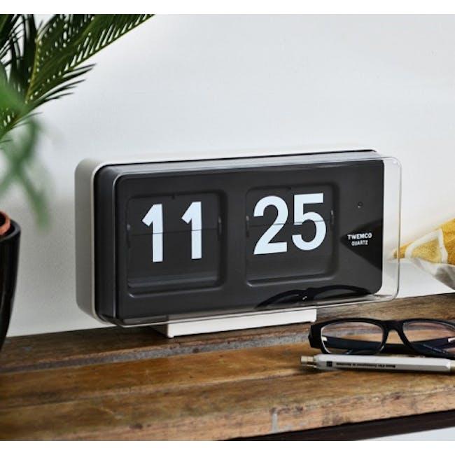 TWEMCO Big Wall/Table Clock - White - 1
