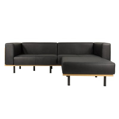 Harvey 3 Seater Sofa with Ottoman - Faux Leather