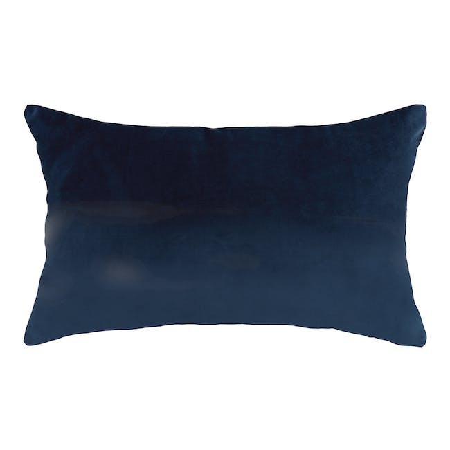 Alyssa Velvet Lumbar Cushion - Ultramarine - 0
