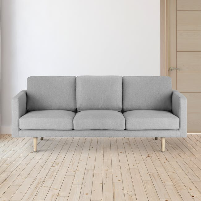 Declan 3 Seater Sofa - Oak, Ash Grey - 1