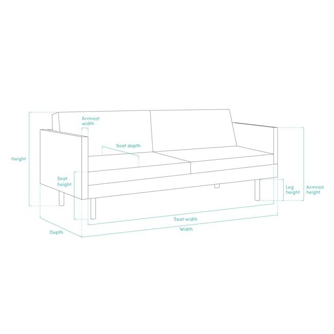 Elijah 2 Seater Sofa - Dolphin Grey (Fabric) - 10