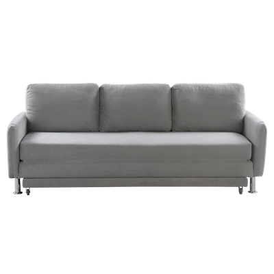 Cozy 3 Seater Sofa Bed - Seal Grey - Image 1