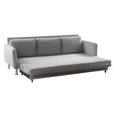 Cozy 3 Seater Sofa Bed - Seal Grey - Image 2