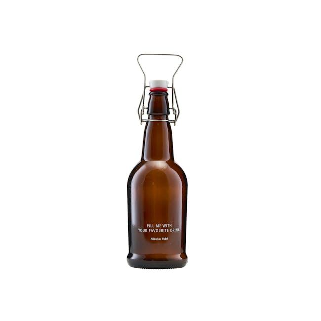 Nicolas Vahe Bottle with Patent Plug - Brown - 0