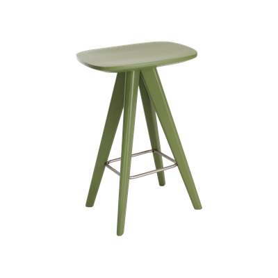 Freya Counter Stool - Green Lacquered - Image 1