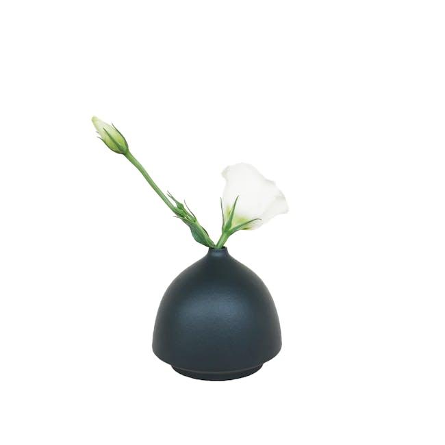 Nordic Matte Vase Half Cylinder - Matte Black - 0