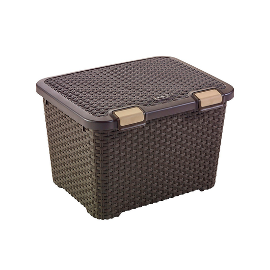 Curver - Style Box with Lid 43L - Dark Brown