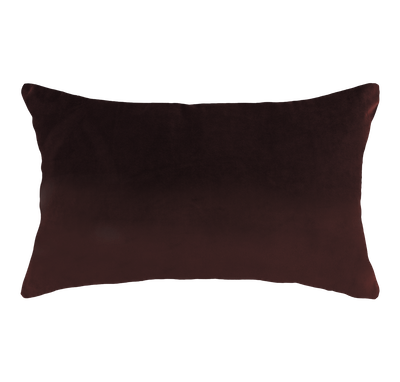 Alyssa Velvet Lumbar Cushion - Burgundy - Image 1