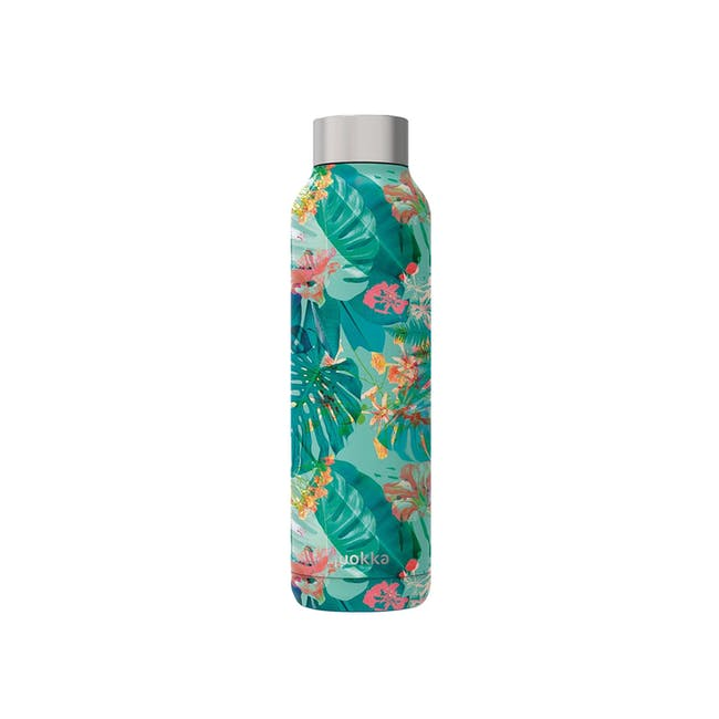 Quokka Stainless Steel Bottle Solid - Tropical 630ml - 0