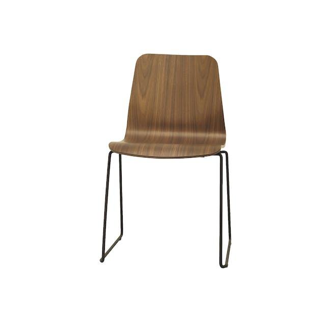 Bianca Dining Chair - Matt Black, Walnut - 1