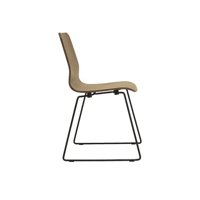 Bianca Dining Chair - Matt Black, Walnut - 2